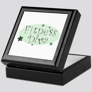 """Fitness Diva"" [green] Keepsake Box"